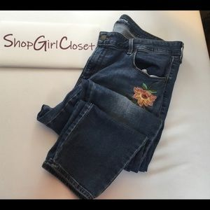 Old Navy Rockstar Jeans - Size 14 - Embroidered